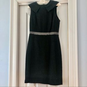 Milly twill wool blend sleeveless sheath dress